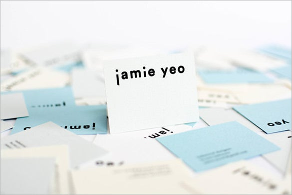 typography name card sample free download