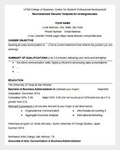 UTSA-College-of-Business-Resume