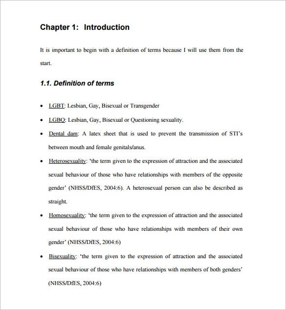 thesis proposal chapter outline Outline the organisation of the thesis in the introductory chapter in the  do a  version for your confirmation proposal, and as your research progresses and  your.