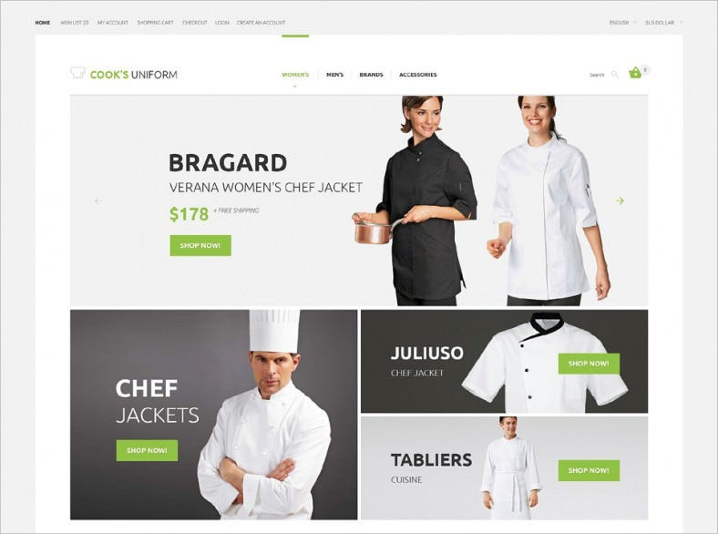 Uniform Store Responsive Open Cart Template