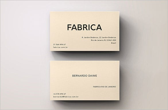 unique business calling card template