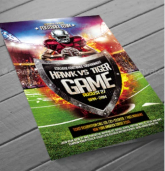 unique football flyer template