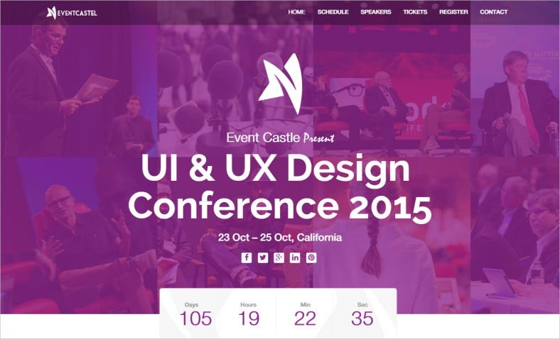 unique multi events bootstrap landing page template 788x478