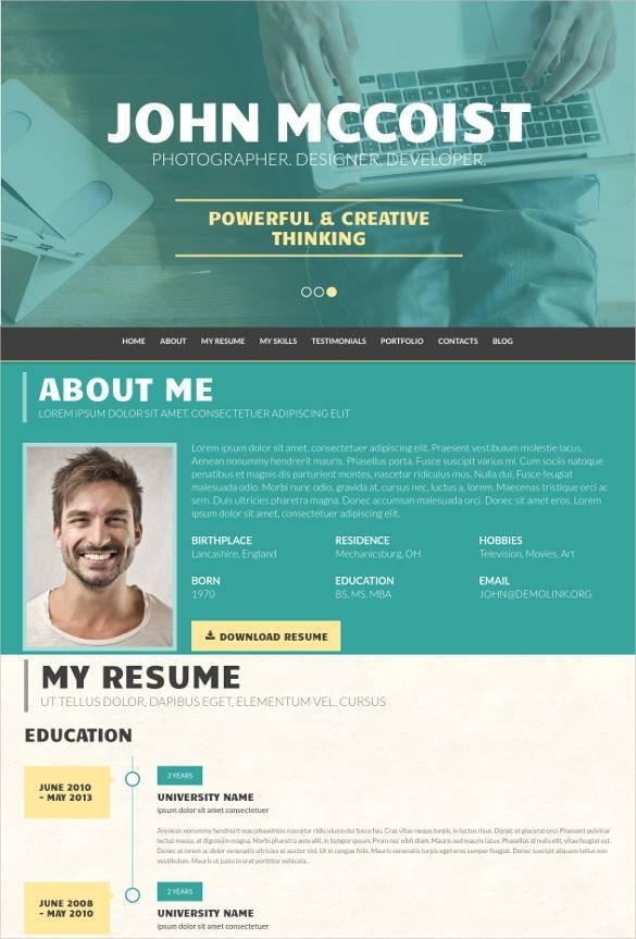 unique web portfolio wordpress theme1