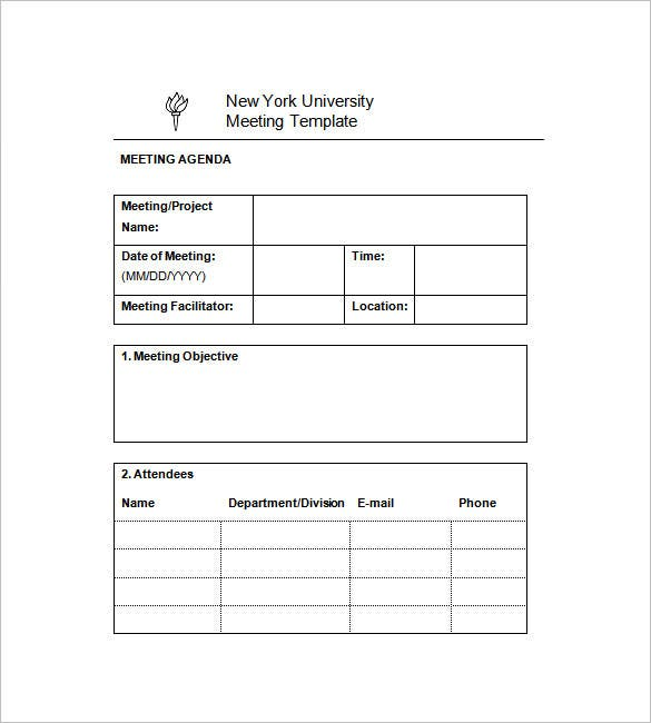 University Project Meeting Minutes Templates  Minutes Notes Template