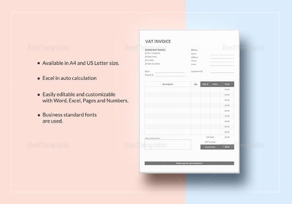 vat invoice template4