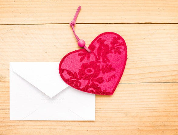 valentine day gift card envelope template