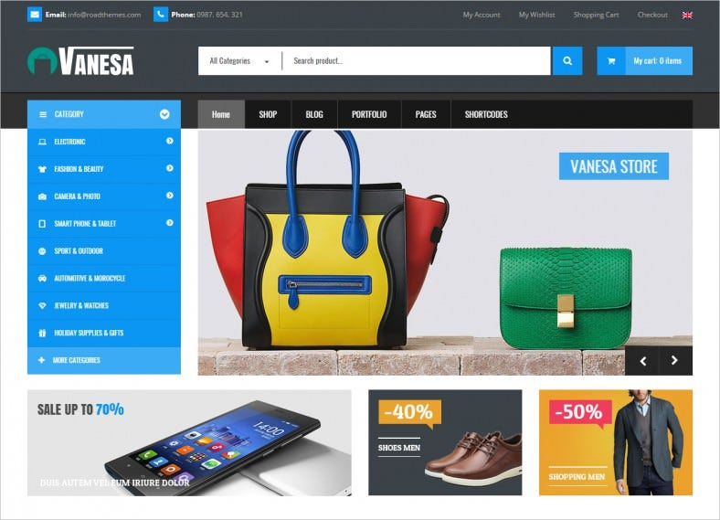 vanesa responsive woocommerce fashion theme 788x569