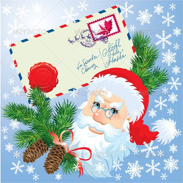 vector eps christmas envelop template download