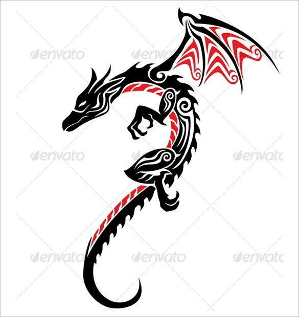 vector eps dragon tattoo1