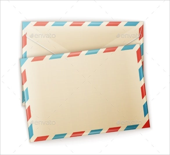 vector eps small envelope template download1