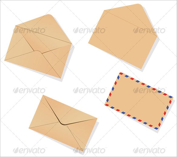 vector eps small envelope template