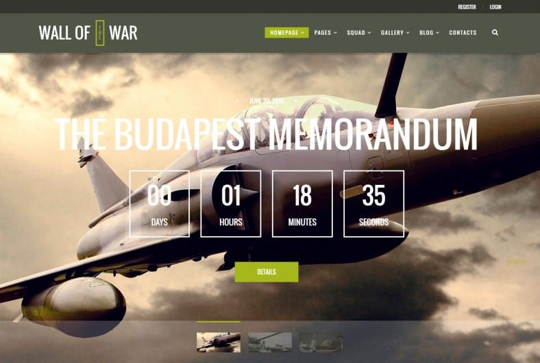Veterans & Military Service WordPress Template