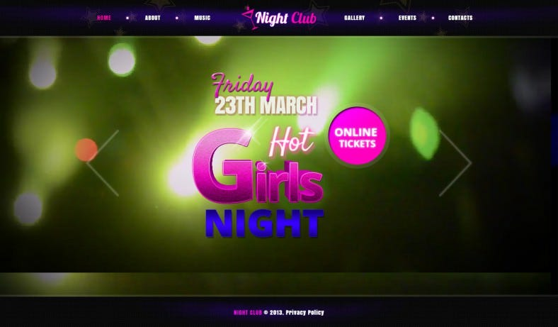 Video & Image Background Template for Night Club