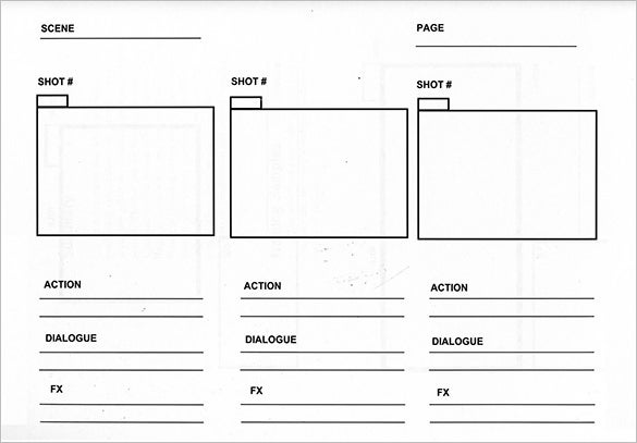 video storyboard template free sample