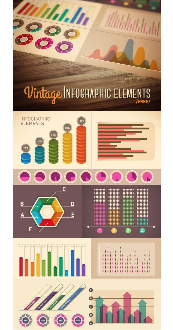 vintage infographic elements free download