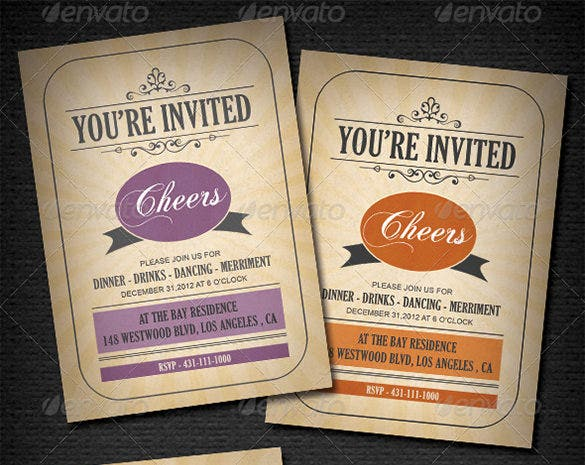 Invitation card templates 32 free printable word pdf psd eps vintage invitation card psd design stopboris Choice Image