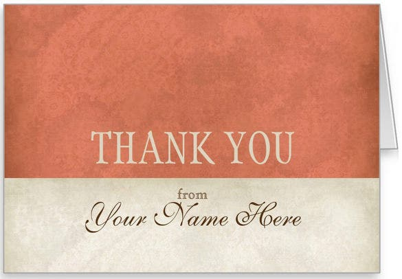 vintage look business thank you note card