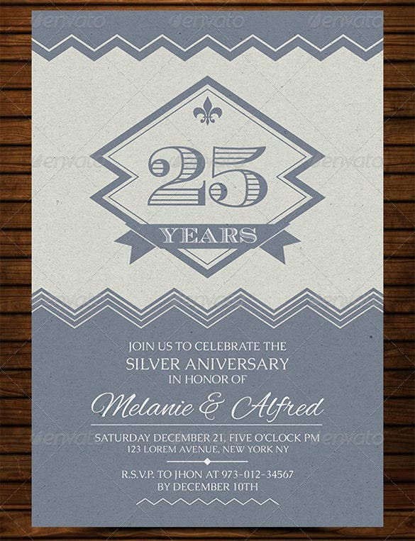 vintage style wedding anniversary card psd design