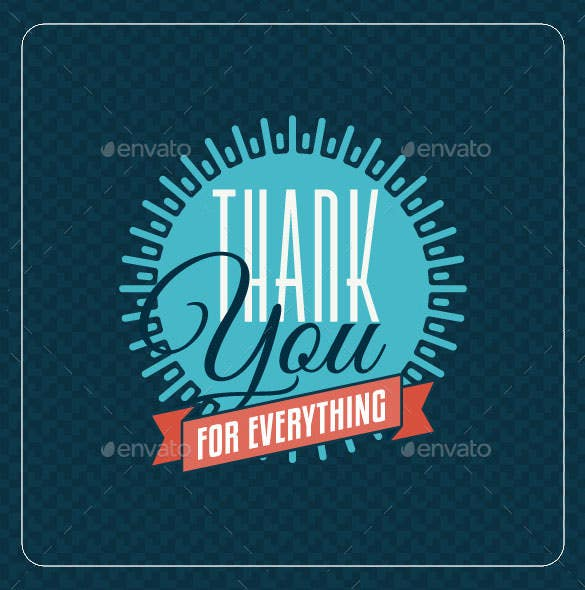 vintage thank you carddesign