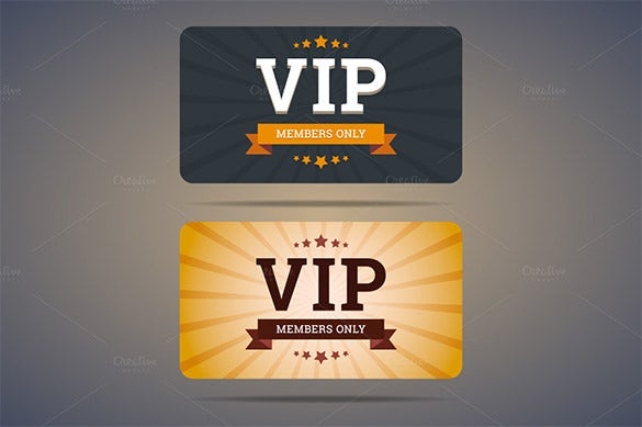 VIP Club Membership AI Design Example Is Vector Based And Can Be Found In  The Formats Of EPS Or JPG. Print These And Distribute It Among Important  Club ...  Membership Card Design
