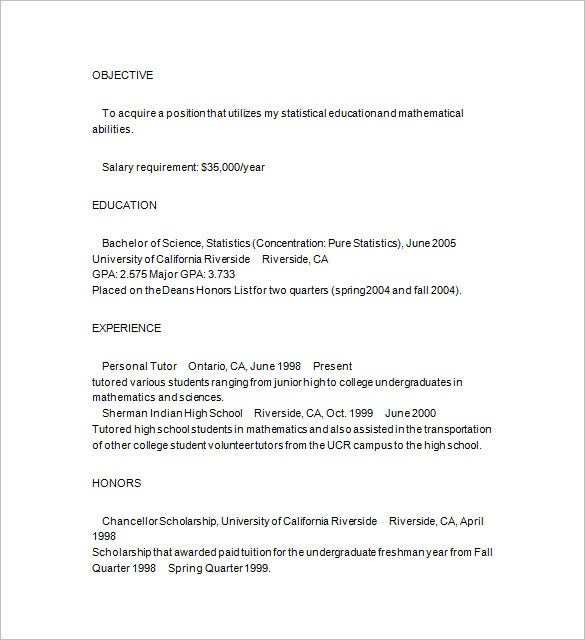 Aba Tutor  Resume Cv Cover Letter