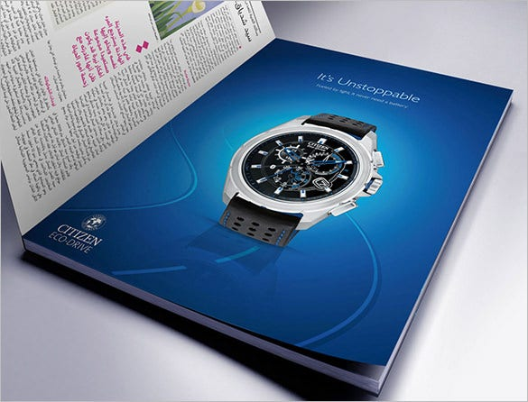 watch magazine ad design