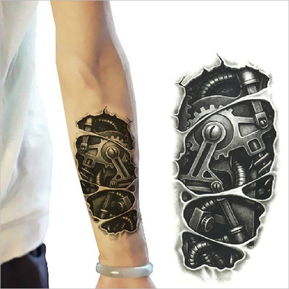 waterproof robot 3d cool tattoo1