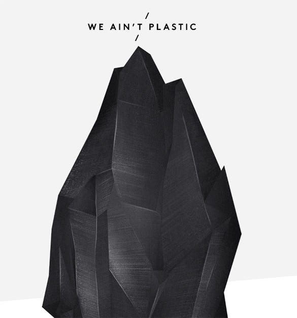 we aint plastic website design idea
