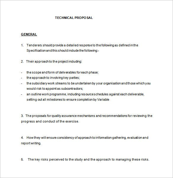 Technical Writing Proposal Template Doritrcatodos