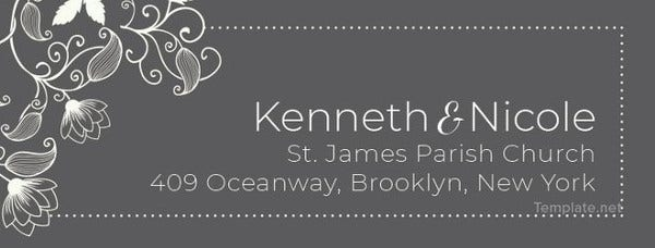 Wedding Address Label Template Free Download
