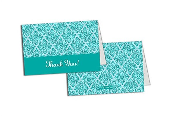 wedding bridal shower thank you card template