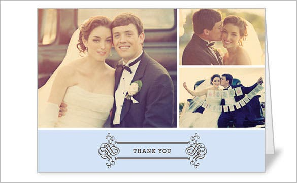 wedding event thank you card in vintage style