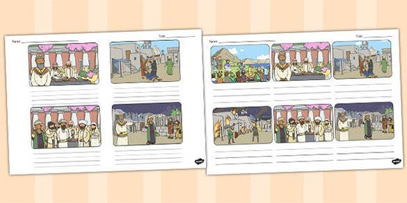 wedding feast storyboard template sample