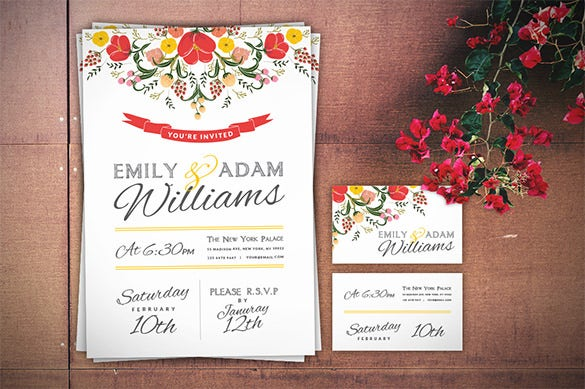 wedding invitation card business card download