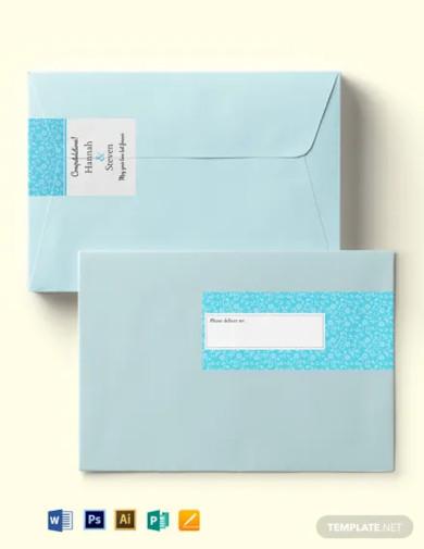 wedding lace wrap address label template