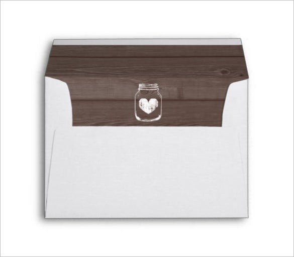 wedding liner envelope template