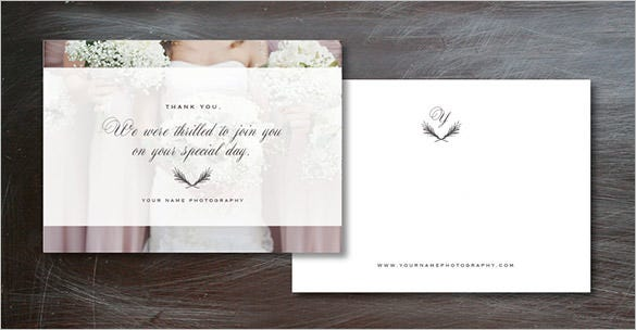 wedding photographer thank you card design