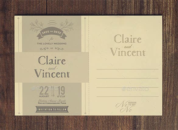 wedding place card psd template pack