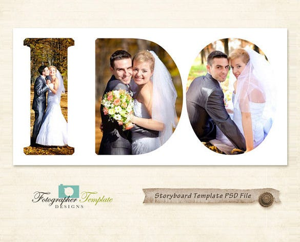 wedding storyboard photoshop template download