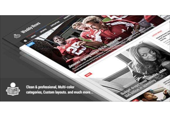 weekly news premium news magazine psd template