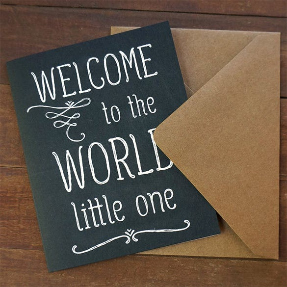 welcome baby shower card template