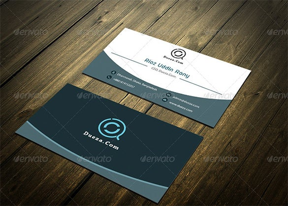 white blue corporate visiting card