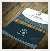 white blue visiting card psd template