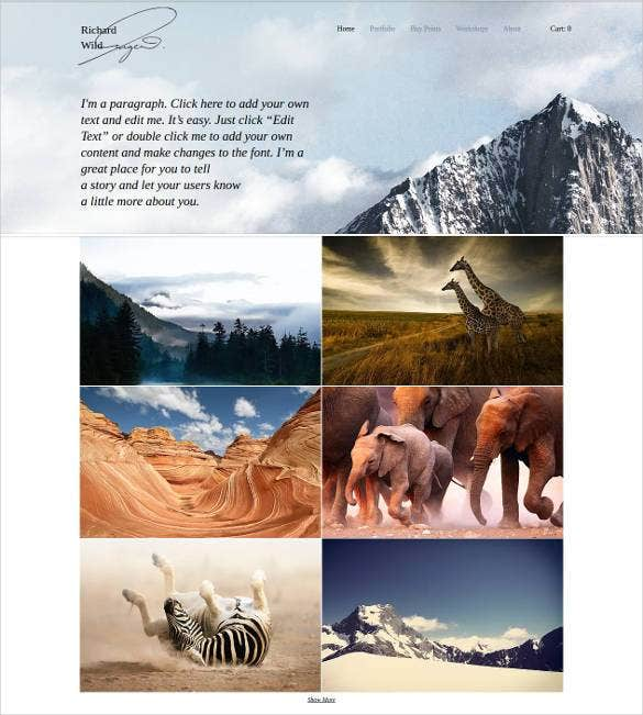 wildlife photography website template1