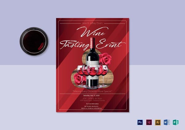 wine tasting event flyer template