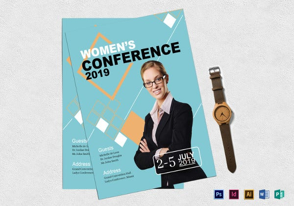 womens conference flyer template