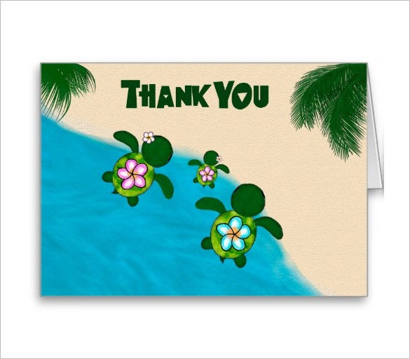wonderful baby shower thank you card
