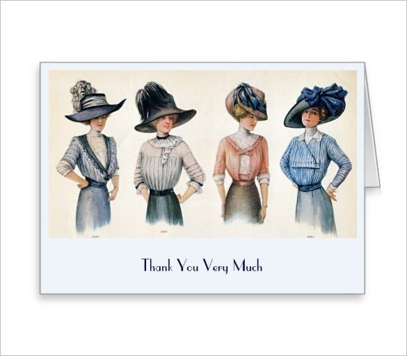 wonderful fashion thank you card