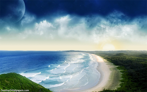 wonderful free beach background download